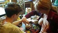 Russian Redhead Mom Seduce Her Son