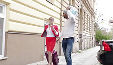 Russian tourist Kira fucks foreign cock