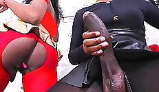 check out how this ebony fuck a big cock