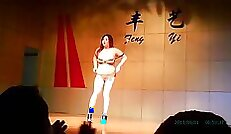 Chinese girl loves dancing shoesplay and to our good masturbation