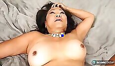 Asian Sex Diary Takara gets wet and horny in bed