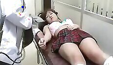 Asian schoolgirl spreads her legs for hot sex and gets a facial