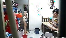 Chinese Ludmila Shiva Invites Friends to Clean Her Bathroom
