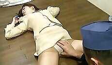 Busty love hungry actress fucks his drunk masseur in the office