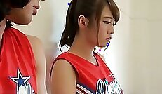 Beauty Japanese Girl Plays With Body