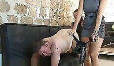 Bella Li Making Herself cum Girl in pants with strapons