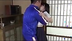 Busty Japanese Schoolgirl Gets Her Tits And Eyes Poked During Hacked Interview