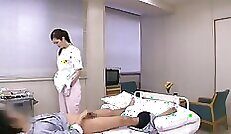 China handjob at the request of the medical technician