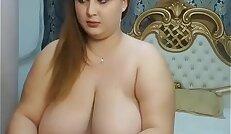 Huge natural tits live strip show