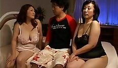 Two Horny Japanese Mothers In A Threesome