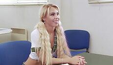 Naughty school girl Lana gets passionately fucked